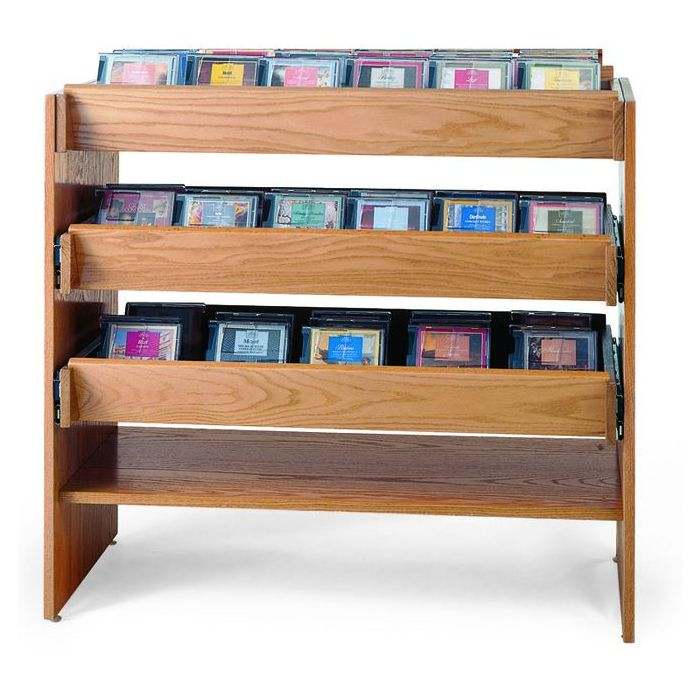 MAR-LINE® Cleveland CD Media Display by Gressco - Slider Block Style, 3061B*